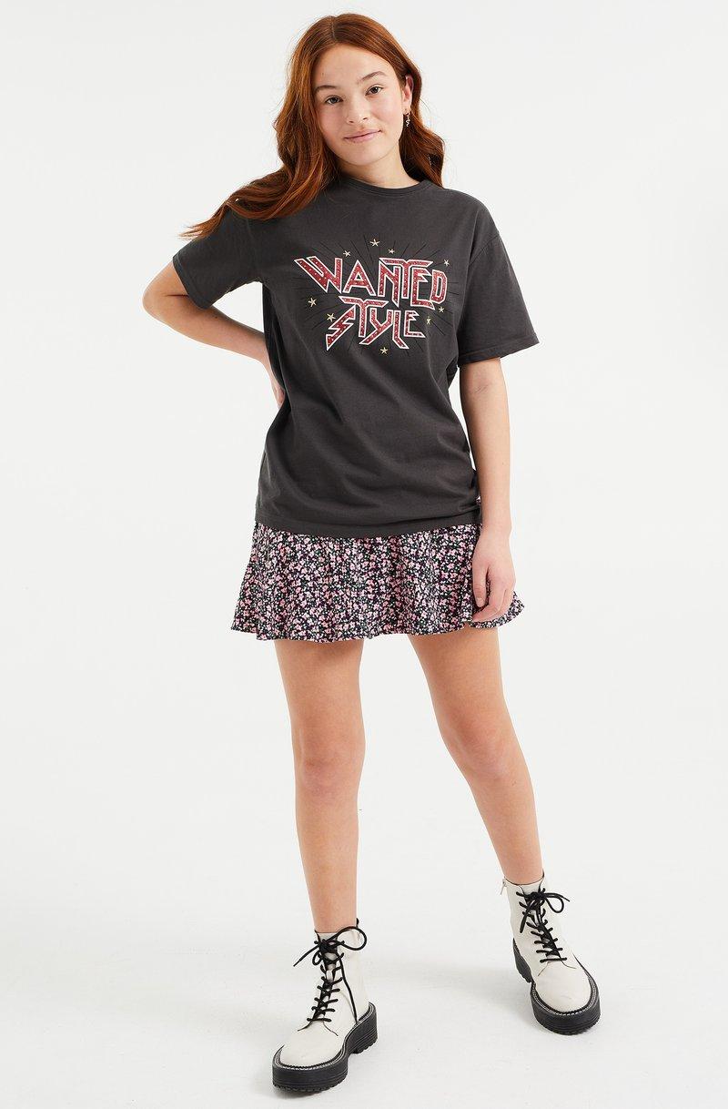 WE Fashion - Print T-shirt - dark grey