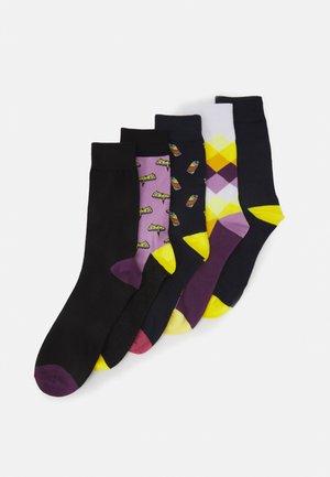 JACPURPLE SOCKS 5 PACK - Ponožky - tap shoe/lavender/lavender/navy