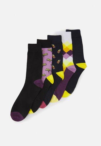 JACPURPLE SOCKS 5 PACK - Socks - tap shoe/lavender/lavender/navy