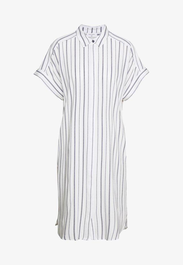 Shirt dress - white/navy blazer