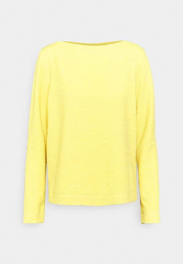Langærmede T-shirts - lime yellow