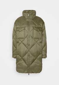 Tommy Jeans - DIAMOND QUILTED COAT - Winter coat - olive tree - 4