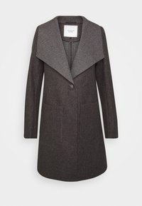 JDY - JDYSANNA DRAPY CARCOAT - Short coat - dark grey melange - 4