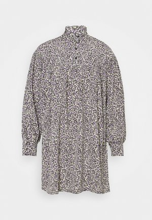 VMVILDA SHORT FLOWER DRESS  - Blusenkleid - black/purple