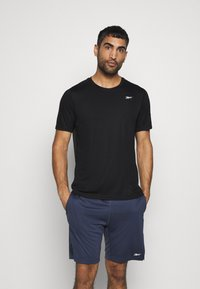 Reebok - TECH TEE - Print T-shirt - black - 0