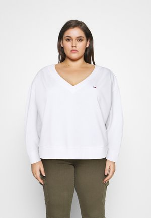 SOFT V NECK - Sweatshirt - white