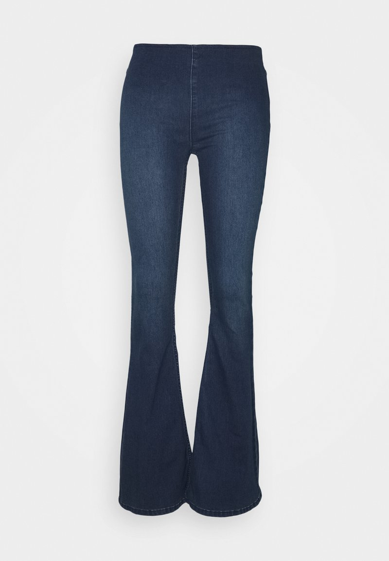 Free People - FLARE PENNY PULL ON - Flared Jeans - rich blue