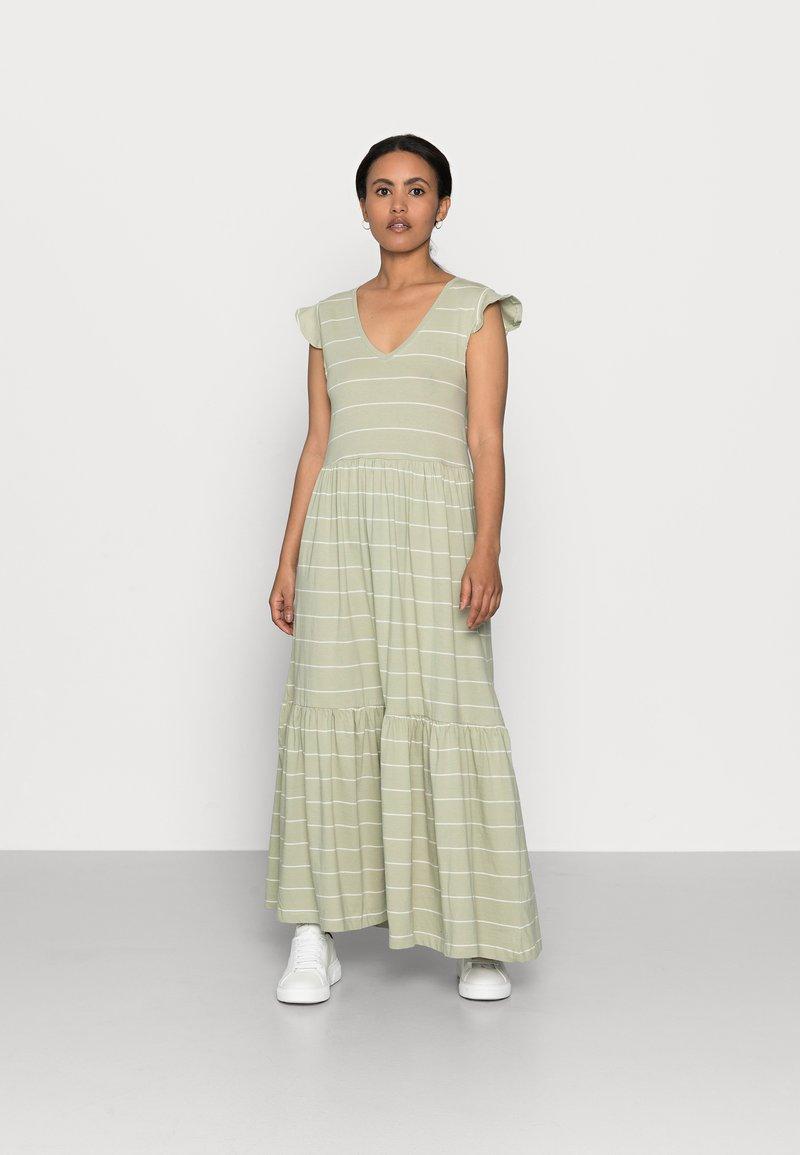 ONLY Petite - ONLMAY LIFE DRESS - Maxi dress - desert sage/cloud dancer