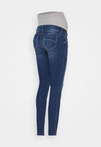 MAMALICIOUS - MLPASO SLIM HIGH BACK  - Jeansy Slim Fit - medium blue denim - 1