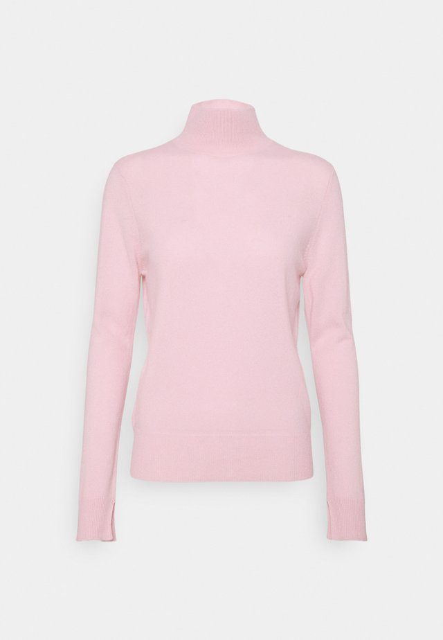 SIMPLE HIGH NECK - Strikkegenser - light pink