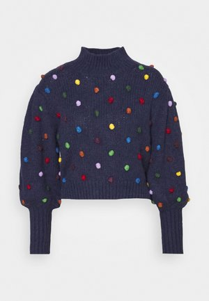 COLORFUL DOTS  - Jumper - navy