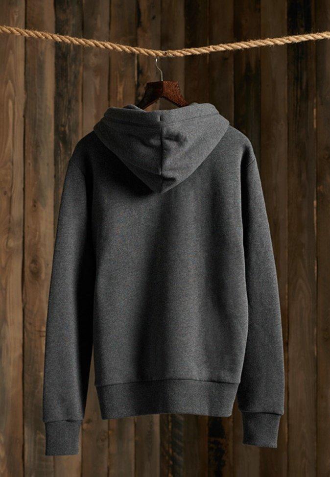 Superdry ORANGE LABEL  - veste en sweat zippée - dark marl