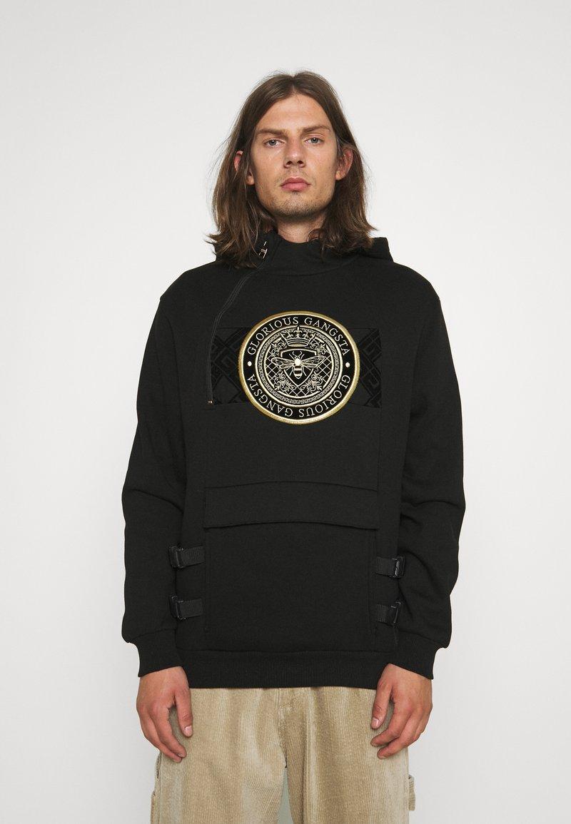 Glorious Gangsta - ZAIAR HOOD - Sweatshirt - jet black/gold