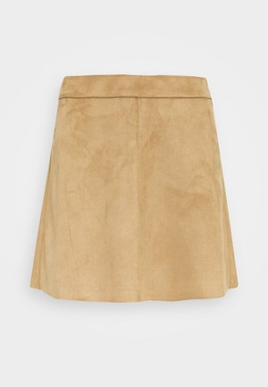 ONLLINEA BONDED - A-line skirt - toasted coconut