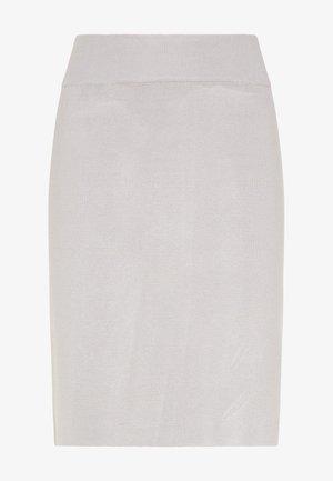 Pencil skirt - silber grau