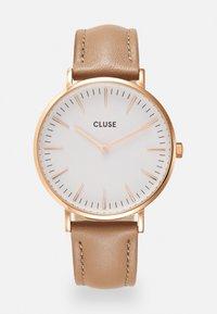 Cluse - Boho Chic - Hodinky - rose gold-coloured/white/hazelnut - 0