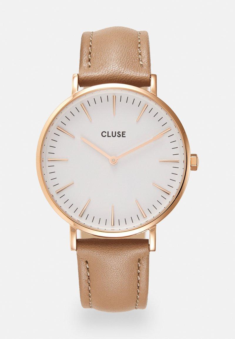 Cluse - Boho Chic - Hodinky - rose gold-coloured/white/hazelnut