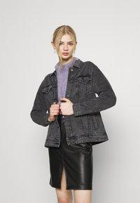 Noisy May - NMOLE  - Denim jacket - dark grey denim - 0