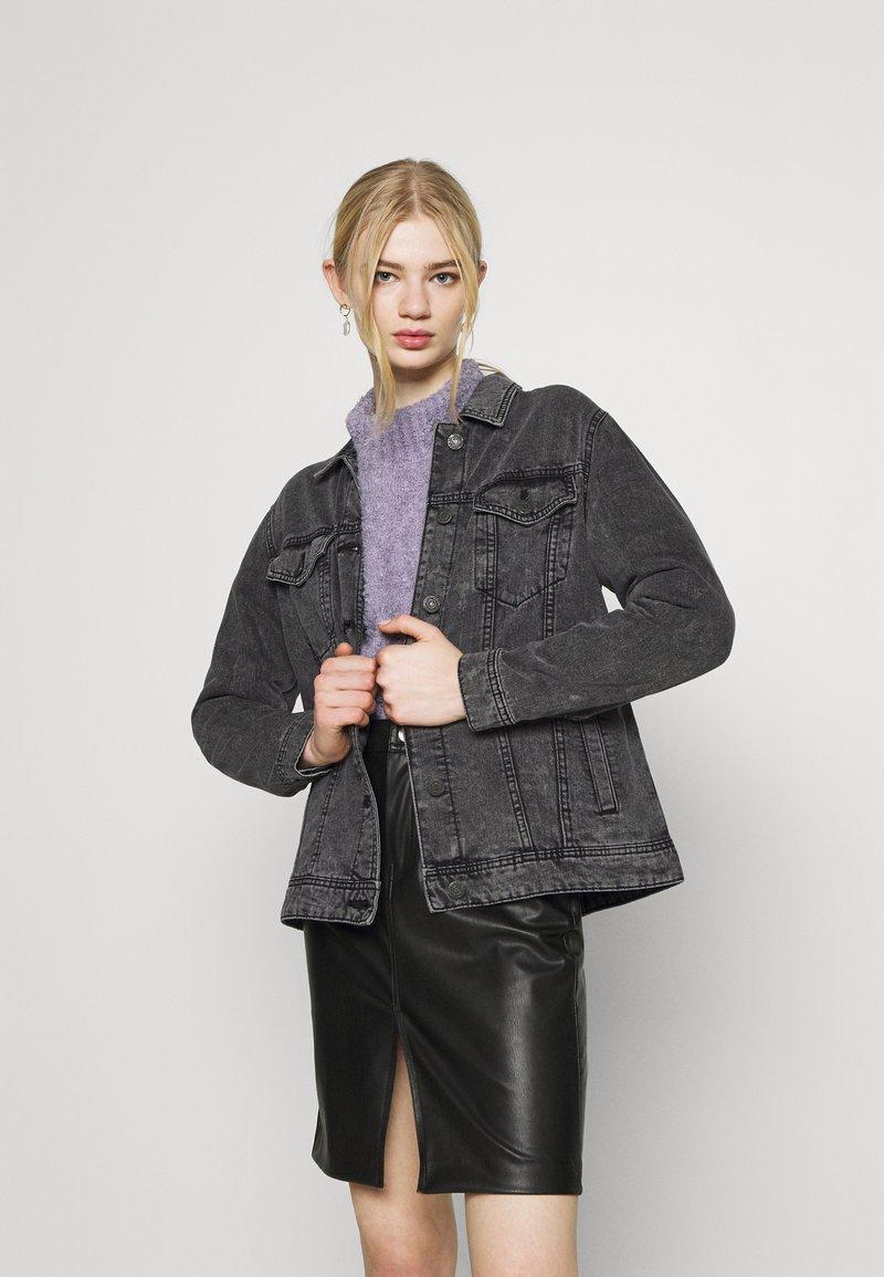 Noisy May - NMOLE  - Denim jacket - dark grey denim