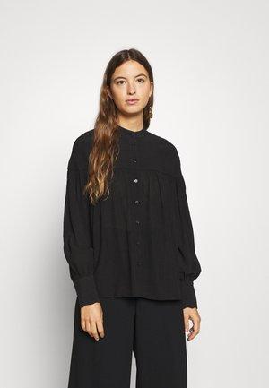 REIBENA - Button-down blouse - black