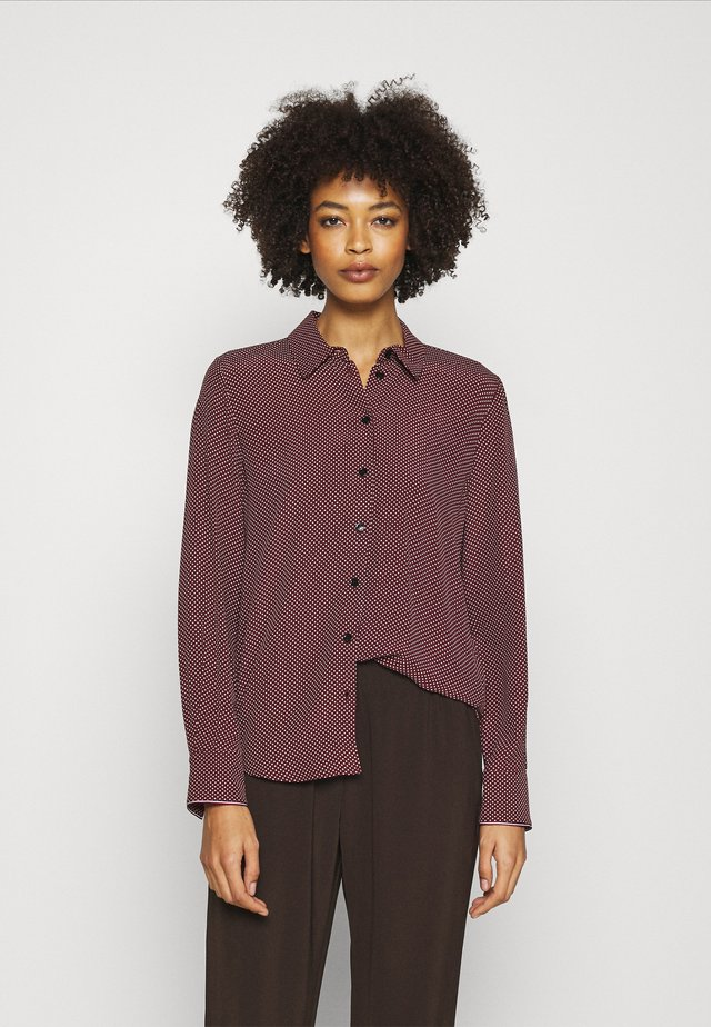 VALESKA RELAXED BLOUSE - Koszula - deep rouge