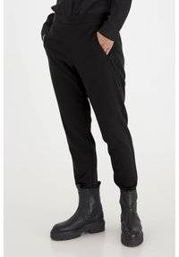 PULZ - PXVICTORIA SPECIAL FAIR OFFER - Trousers - black beauty - 0