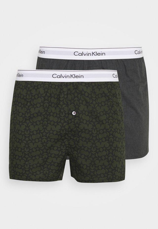 SLIM 2 PACK - Boxer shorts - grey