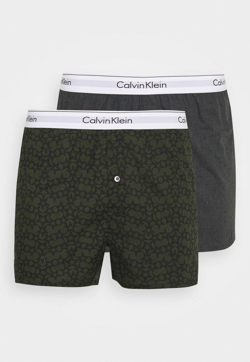 Calvin Klein Underwear - SLIM 2 PACK - Boxer shorts - grey