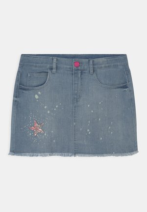 JUNIOR - Mini skirt - blue denim