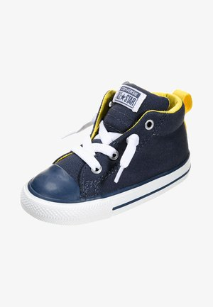 CHUCK TAYLOR ALL STAR MID - High-top trainers - navy/citrus