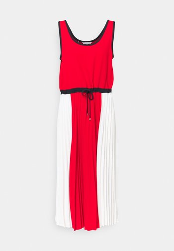 PLEATED DRESS - Day dress - fireworks/dsrt sky/wht colorblock