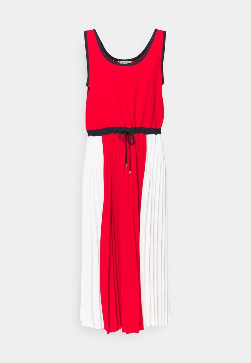 Tommy Hilfiger - PLEATED DRESS - Day dress - fireworks/dsrt sky/wht colorblock