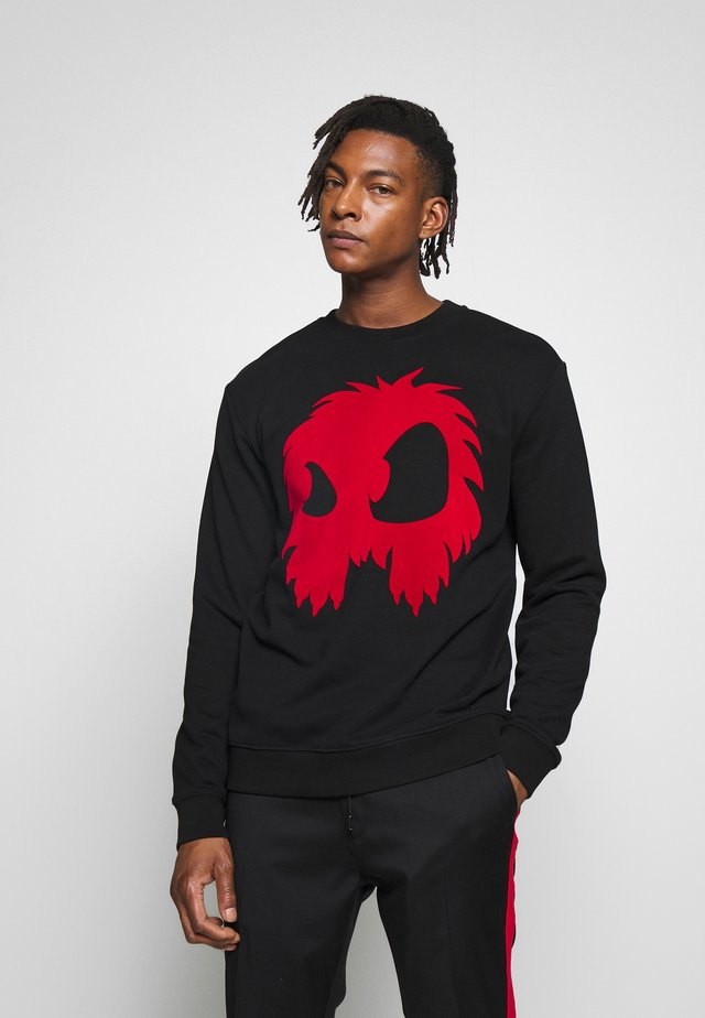 MONSTER  - Sweater - darkest black/rouge
