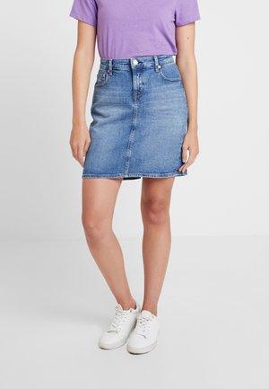 REGULAR DENIM SKIRT - Denim skirt - blue denim