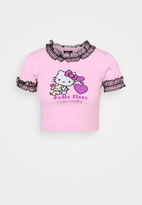 NEW girl ORDER - HELLO DETAILED TEE - T-shirts med print - pink - 0
