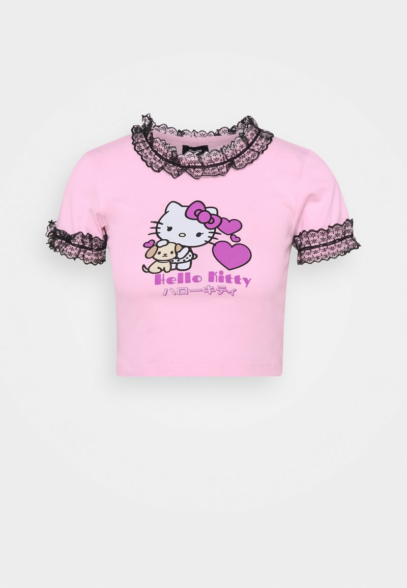 NEW girl ORDER - HELLO DETAILED TEE - T-shirts med print - pink