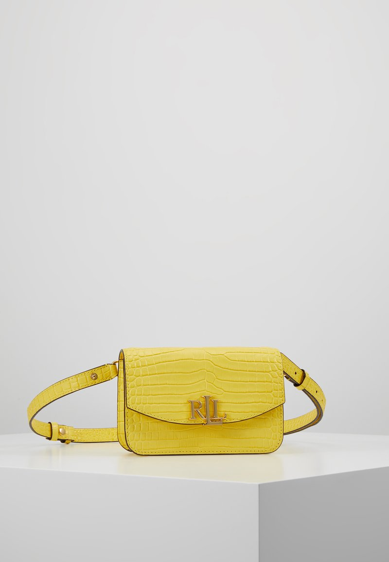 Lauren Ralph Lauren - MINI CROC EMBOSS MADISON  - Riñonera - lemon sorbet