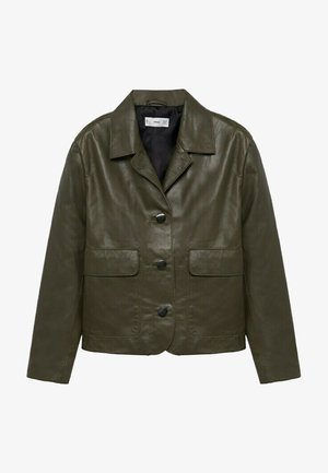 Leather jacket - khaki