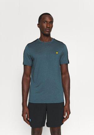 SLEEVE TAPE TEE - Basic T-shirt - aegean blue