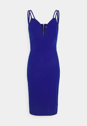 AINSLEY DOUBLE STRAP MIDI DRESS - Etuikjole - electric blue