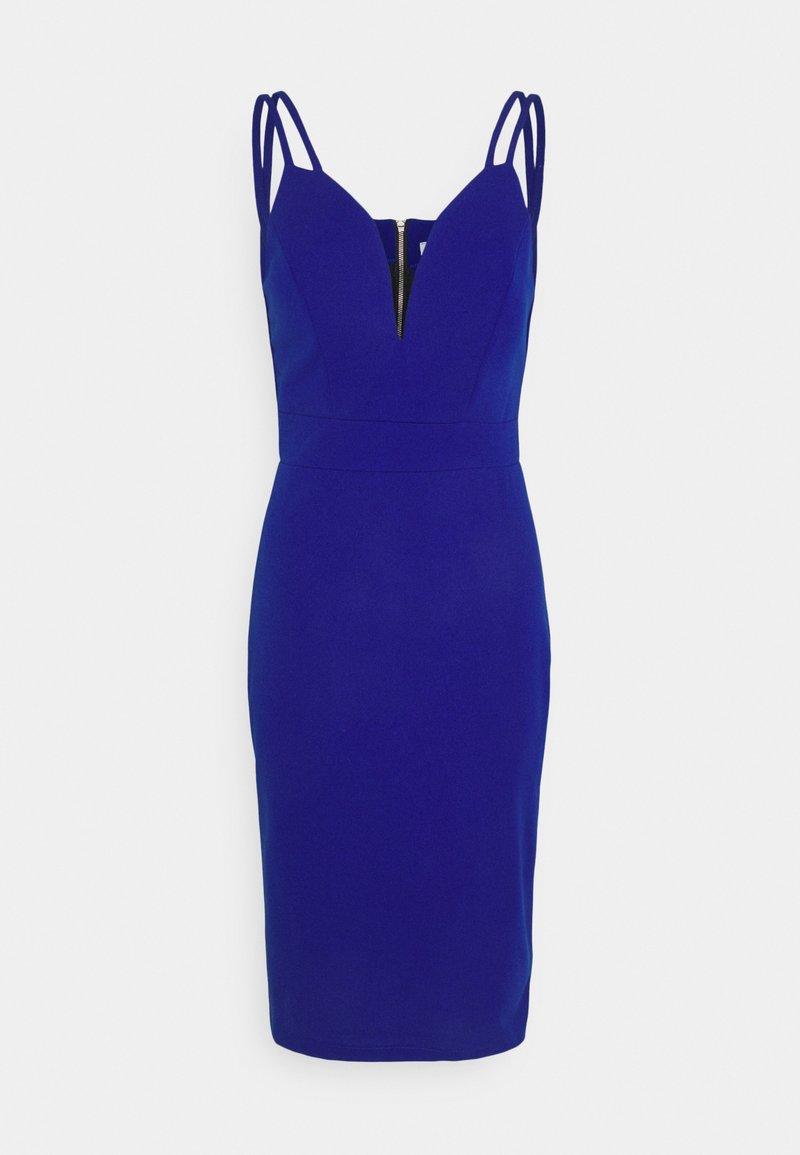 WAL G. - AINSLEY DOUBLE STRAP MIDI DRESS - Shift dress - electric blue