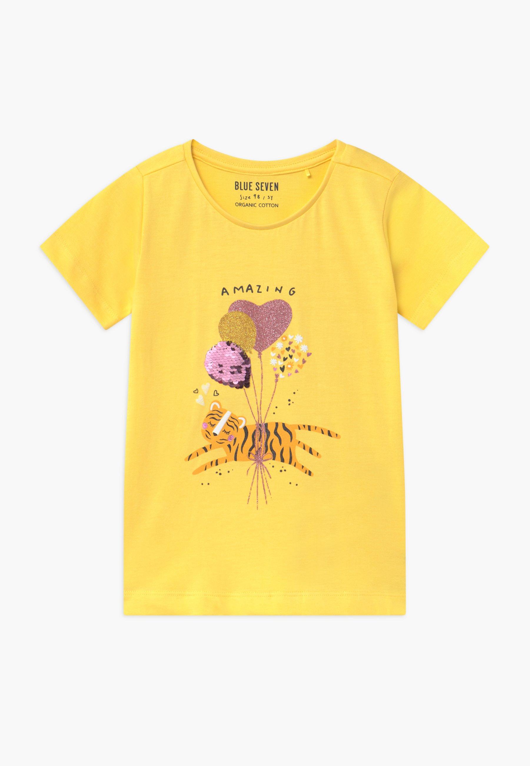 Kids SMALL GIRLS BALLOON TIGER - Print T-shirt