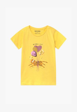 SMALL GIRLS BALLOON TIGER - Print T-shirt - stroh