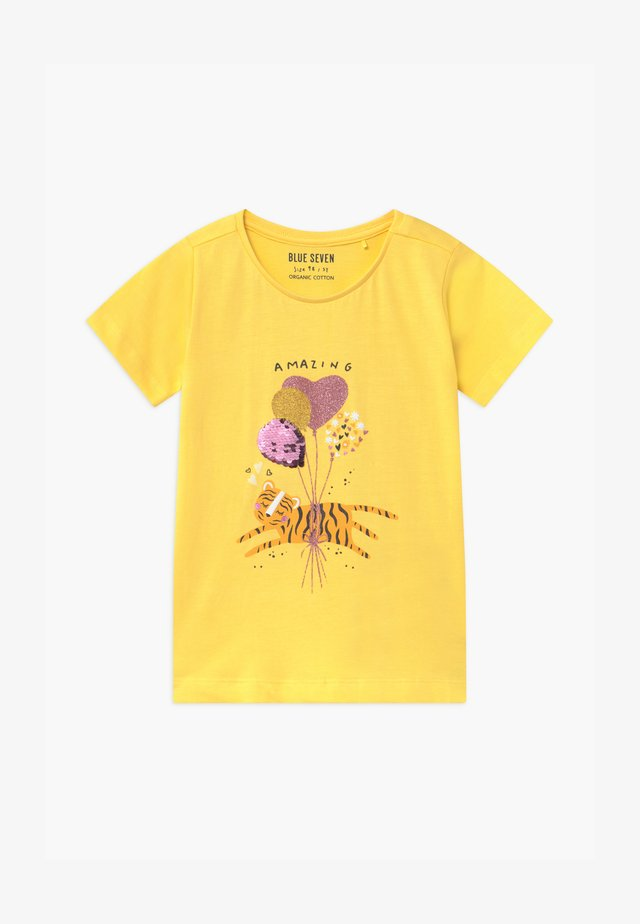 SMALL GIRLS BALLOON TIGER - T-shirt med print - stroh