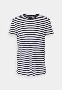 recolution - TENCEL STRIPES - Print T-shirt - navy/white - 0