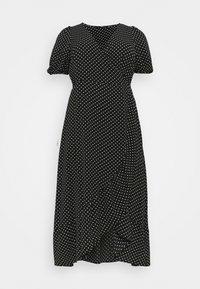 Vero Moda Curve - VMSAGA WRAP ANKLE DRESS - Maxi dress - black - 3