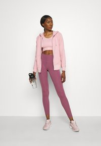 Nike Performance - DRY GET FIT - Zip-up sweatshirt - pink glaze/white - 1