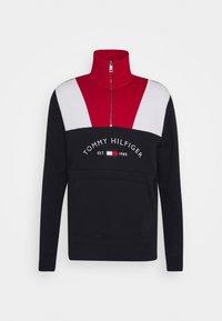 Tommy Hilfiger - COLOR BLOCK MOCK NECK - Sweatshirt - red/multi - 0