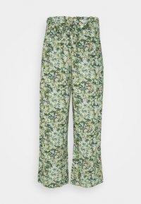 Marc O'Polo DENIM - PANTS WIDE LEG BELT - Kalhoty - multi/fresh herb - 0