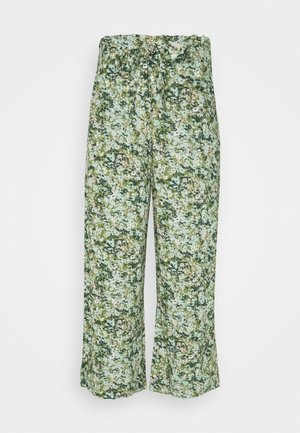 PANTS WIDE LEG BELT - Trousers - multi/fresh herb